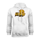 White Fleece Hoodie-UAPB Lion Head Stacked