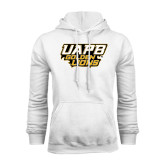 White Fleece Hoodie-UAPB Golden Lions Stacked