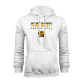 White Fleece Hoodie-University of Arkansas Pine Bluff Golden Lions