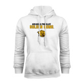 White Fleece Hoodie-Arkansas Pine Bluff Golden Lions