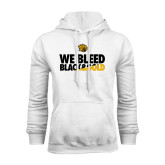 White Fleece Hoodie-We Bleed Black & Gold