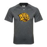 Under Armour Carbon Heather Tech Tee-Golden Lion Head