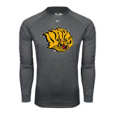 Under Armour Carbon Heather Long Sleeve Tech Tee-Golden Lion Head