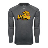 Under Armour Carbon Heather Long Sleeve Tech Tee-UAPB Lion Head Stacked