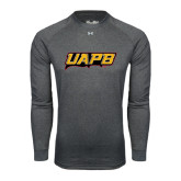 Under Armour Carbon Heather Long Sleeve Tech Tee-UAPB Word Mark