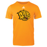 Adidas Gold Logo T Shirt-Golden Lion Head