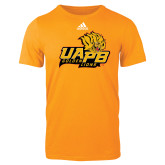 Adidas Gold Logo T Shirt-UAPB Lion Head Stacked