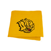 Gold Sweatshirt Blanket-Golden Lion Head