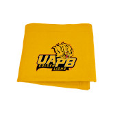 Gold Sweatshirt Blanket-UAPB Lion Head Stacked