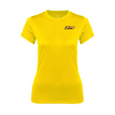 Ladies Syntrel Performance Gold Tee-UAPB Word Mark