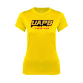 Ladies Syntrel Performance Gold Tee-Basketball