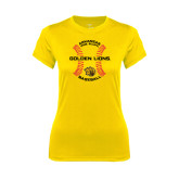 Ladies Syntrel Performance Gold Tee-Baseball Circle w/ Seams