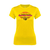 Ladies Syntrel Performance Gold Tee-Golden Lions Football in Ball