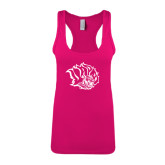 Next Level Ladies Raspberry Ideal Racerback Tank-Golden Lion Head