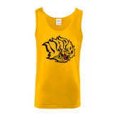 Gold Tank Top-Golden Lion Head