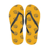 Full Color Flip Flops-Golden Lion Head