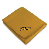 Gold Arctic Fleece Blanket-UAPB Word Mark