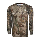 Realtree Camo Long Sleeve T Shirt w/Pocket-Golden Lion Head