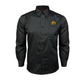Red House Black Long Sleeve Shirt-Golden Lion Head