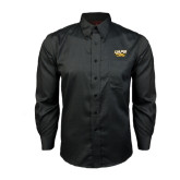 Red House Black Long Sleeve Shirt-UAPB Golden Lions Stacked
