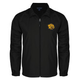 Full Zip Black Wind Jacket-Golden Lion Head