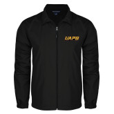 Full Zip Black Wind Jacket-UAPB Word Mark