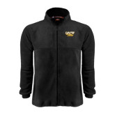Fleece Full Zip Black Jacket-UAPB Golden Lions Stacked