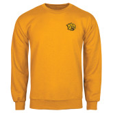 Gold Fleece Crew-Golden Lion Head