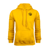 Gold Fleece Hoodie-Golden Lion Head