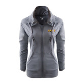 Ladies Sport Wick Stretch Full Zip Charcoal Jacket-UAPB Word Mark