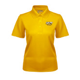 Ladies Gold Dry Mesh Polo-UAPB Golden Lions Stacked