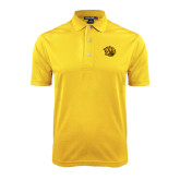 Gold Dry Mesh Polo-Golden Lion Head
