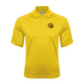 Gold Dri Mesh Pro Polo-Golden Lion Head
