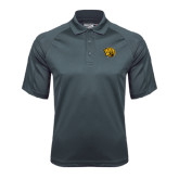 Charcoal Dri Mesh Pro Polo-Golden Lion Head