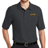 Charcoal Easycare Pique Polo-UAPB Word Mark