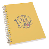 Clear 7 x 10 Spiral Journal Notebook-Golden Lion Head