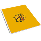 College Spiral Notebook w/Clear Coil-Golden Lion Head