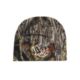 Mossy Oak Camo Fleece Beanie-Golden Lion Head