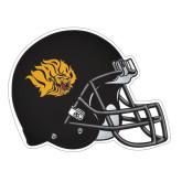 Football Helmet Magnet-Golden Lion Head