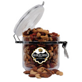 Deluxe Nut Medley Round Canister-Golden Lion Head