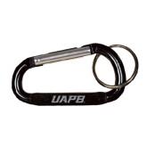 Black Carabiner with Split Ring-UAPB Word Mark Engraved