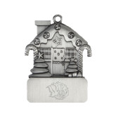 Pewter House Ornament-Golden Lion Head Engraved