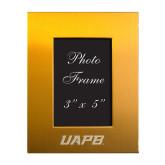 Gold Brushed Aluminum 3 x 5 Photo Frame-UAPB Word Mark Engraved