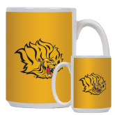 Full Color White Mug 15oz-Golden Lion Head