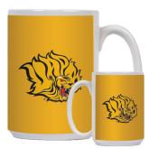 Full Color White Mug 15oz-Golden Lion Head
