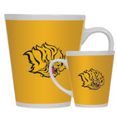 12oz Ceramic Latte Mug-Golden Lion Head