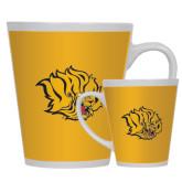 Full Color Latte Mug 12oz-Golden Lion Head
