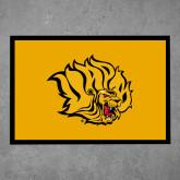 Full Color Indoor Floor Mat-Golden Lion Head