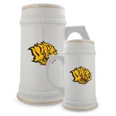 Full Color Decorative Ceramic Mug 22oz-Golden Lion Head