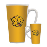 Full Color Latte Mug 17oz-Golden Lion Head
